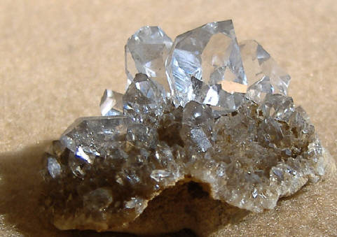 Herkimer diamonds on matrix