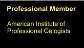 Professional Member American Institute of Professional Gelogists